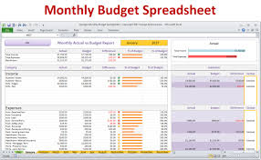Example Of Budget Spreadsheet In Excel by Monthly Budget Spreadsheet Planner Excel Home Budget For