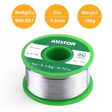 0 8mm lead free solder wire with rosin core sn 99 ag 0 3 cu