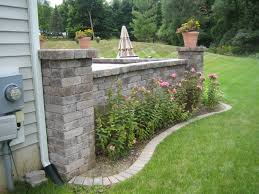 Patio Retaining Wall Ideas Paver Patio With Retaining Wall Laura Williams
