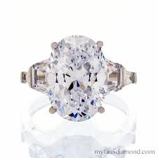 cubic zirconia engagement rings cubic zirconia 6 carat oval cut engagement ring my faux