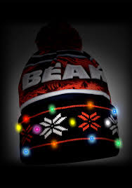 chicago bears wordmark light up winter hat