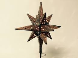 moravian tree topper tin moravian lighted tree topper copper finish custom metal