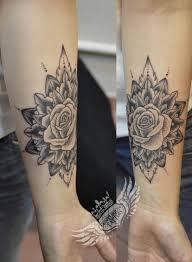 tattoo rose arm mandala dotwork rose tattoo tattoo centuriontattoo pinterest