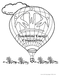 air balloon color pages free printable coloring sheets kids