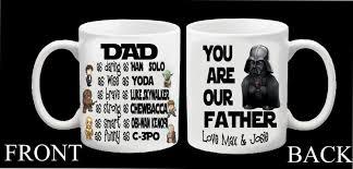 personalised star wars superhero darth vader mug father dad