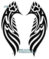 tribal bear claw tattoo on chest real photo pictures images and