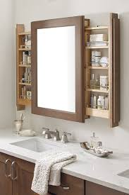 Wooden Mirrored Bathroom Cabinets Best 25 Bathroom Mirror With Storage Ideas On Pinterest Small