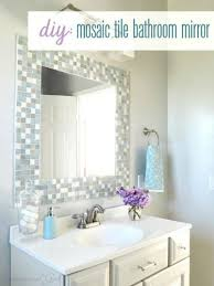 bathroom mirror ideas 31 ideas of mosaic tile around bathroom mirror