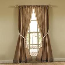 curtains from burlap found in the garden section of lowes 3 for