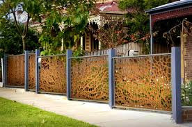 decoration lovable corrugated metal fence and garden panels