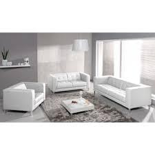 mistergooddeal canapé canapé 3 places canapé 2 places fauteuil reef simili blanc sur