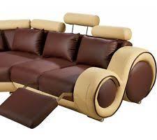 Sectional Sofa Vig Furniture Divani Casa 4087 Bonded Leather Sectional Sofa Ebay