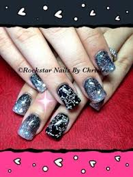 rockstar nails by christee acrylic fallnails inlays nails