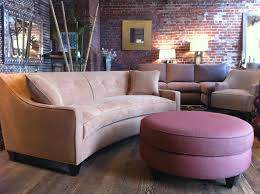 Living Room Vs Parlor Sofa 101 Curved Vs Straight Round Ottoman Ottomans And Curved