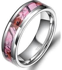 Pink Camo Wedding Rings amazon com pink camo wedding rings by 1 camo pink camo promise