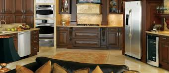 Mahogany Kitchen Cabinet Doors Opulent Open Kitchen Decors With Brown Finished Mahogany Cabinets