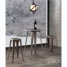 Zuo Christabel Folding Bar Table Zuo 601189 Olympia Bar Table In Gunmetal Homeclick Com