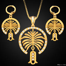 wholesale jewelry necklace images New middle east jewelry 18k gold jewelery set dubai palm island jpg