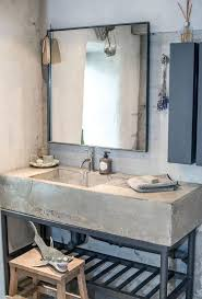 sink with metal legs a concrete vanity on metal legs can be diyed and it will be very
