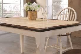bradley two toned dining table with tile inlay tables w loversiq