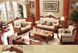 living room furnitures turkish brown and white full leather sofa set solid wood furniture