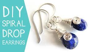 diy drop earrings jewelry diy spiral drop earrings barst skillshare