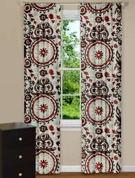 Rust Colored Kitchen Curtains Modern Curtains Suzani Nile Denton Panel