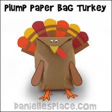 plump paper bag turkey craft from www daniellesplace turkey