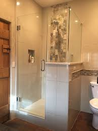 a 90 degree frameless custom shower door is one of our most