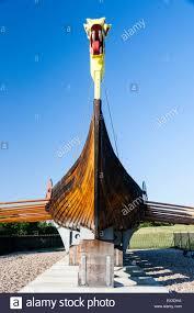 pegwell ramsgate england reconstructed viking ship dragon