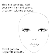 blank face template face paint world clip art library