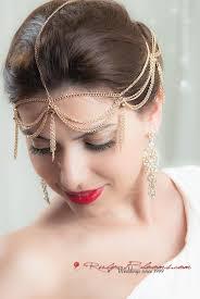 chain headpiece deco golden chain headpiece