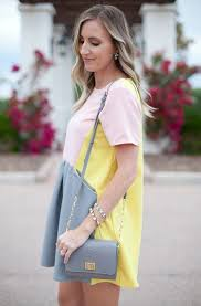pastel color block dress spring summer styling ideas u2013 designers