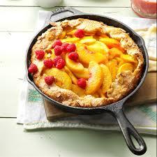 Cast Iron Cooking Cast Iron Peach Crostata Recipe Taste Of Home