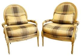 Black And Gold Accent Chair Marge Carson Plaid Louis Chairs In Black And Gold 6 540 Est