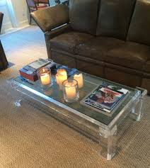 coffee tables exquisite fact acrylic coffee table vintage low