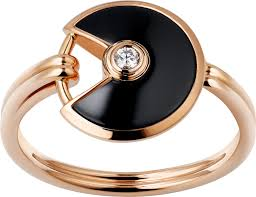 onyx engagement rings crb4213200 amulette de cartier ring xs model pink gold onyx