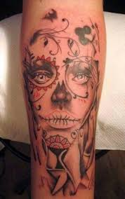 day of the dead tattoo probably only tattoo of a i u0027d