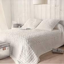 jeté de canapé blanc emmanuelle par linder jeté de lit 240x260cm 2 taies la