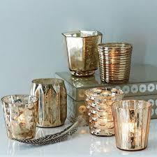 mercury tea light holders mercury tealights rose gold west elm