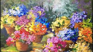 Win With Flower by Pots Of Flowers A Beginner Acrylic Painting Tutorial By Ginger