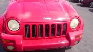 pink jeep liberty 2002 jeep liberty limited youtube