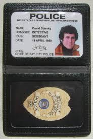 Starsky And Hutch Watch Online Badge En Cuir Avec Carte Identification Starsky Et Hutch David