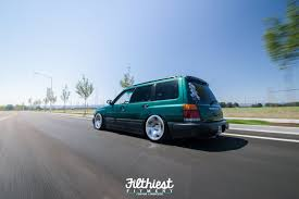 subaru green forester robbie ericksons stanced forester on wci u0027s filthiest fitment