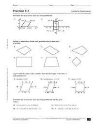 practice 6 1 classifying quadrilaterals 9th 11th grade worksheet