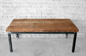 steel and wood table appealing wood metal coffee table reclaimed wood and steel coffee
