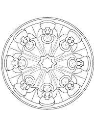 81 coloring christmas mandalas u0026 wreaths images