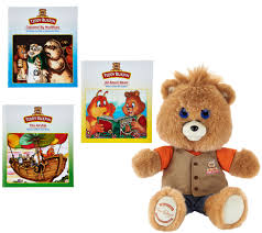 teddy ruxpin animated storytelling bear with 3 books page 1