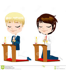 boy kneeling and praying in the church stock images image 20535464
