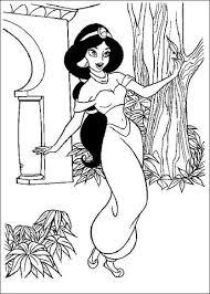 Coloriage  Jasmine dans le jardin  Coloriages à imprimer gratuits